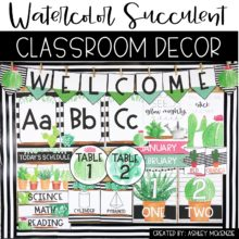 Watercolor Decor Pack